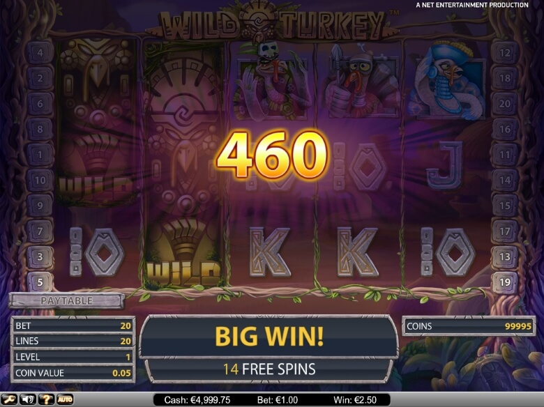 Wild Turkey online slot by NetEnt