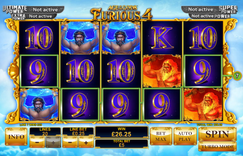 Age Of The Gods: Furious 4 - Video Slot