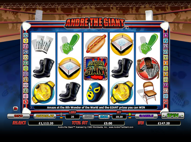 Andre the Giant - Video Slot