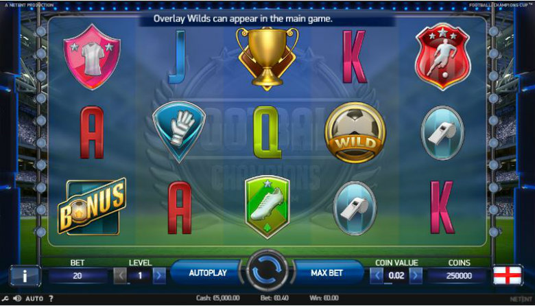 Football: Champions Cup - Video Slot