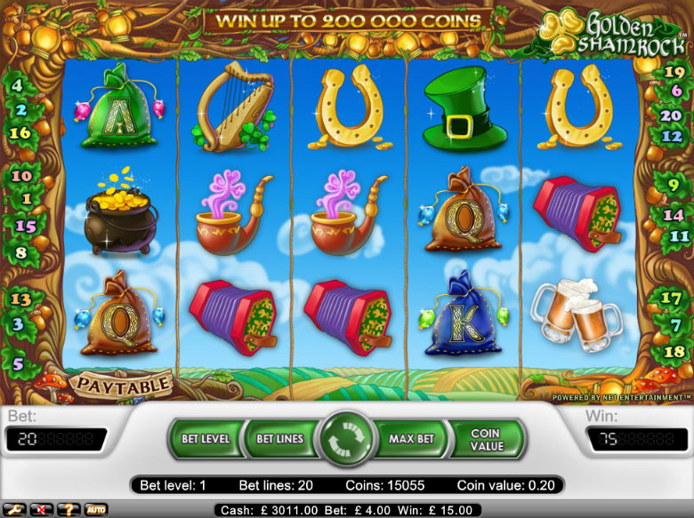 Golden Shamrock - Video Slot