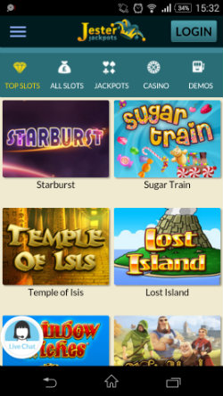 Play mobile slots at Jester Jackpots Mobile Casino