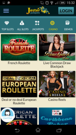 Play casino online with Jester Jackpots Mobile Casino