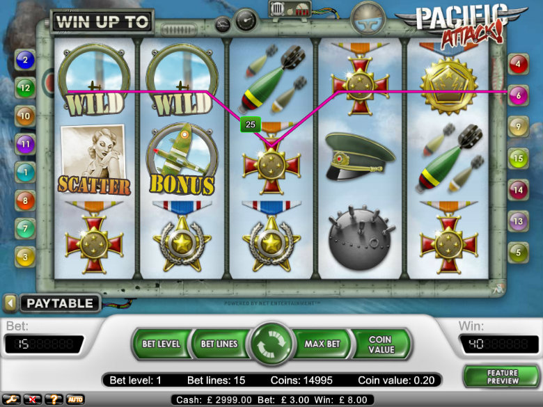 Pacific Attack - Video Slot