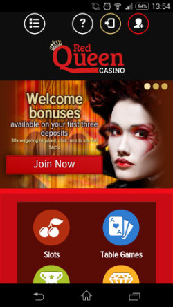 Casino Bonuses & Casino Rewards at Red Queen Casino Mobile