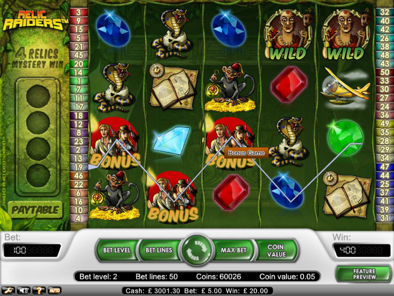 Relic Raiders - Video Slot