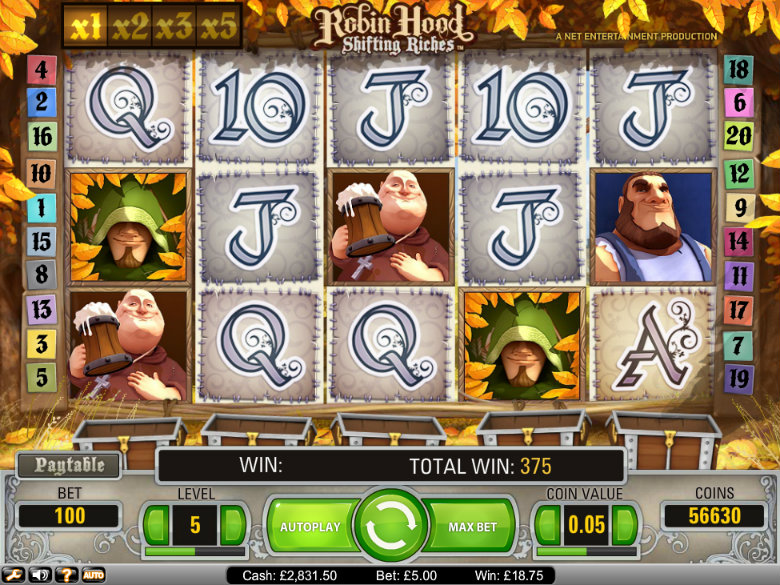 Robin Hood: Shifting Riches - Video Slot