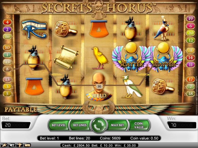 Secrets of Horus - Video Slot