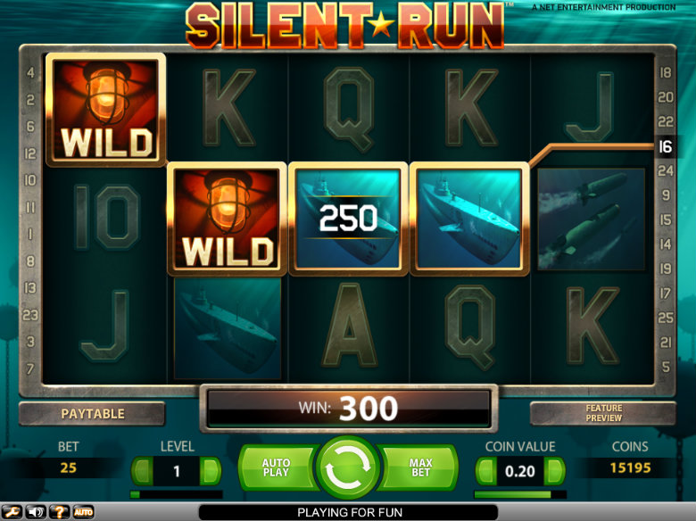 Silent Run - Video Slot