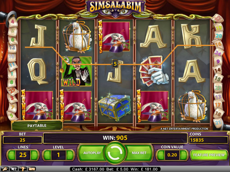 SimSalaBim - Video Slot