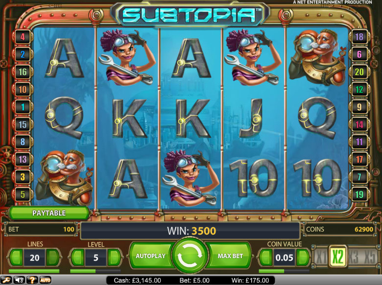 Subtopia - Video Slot