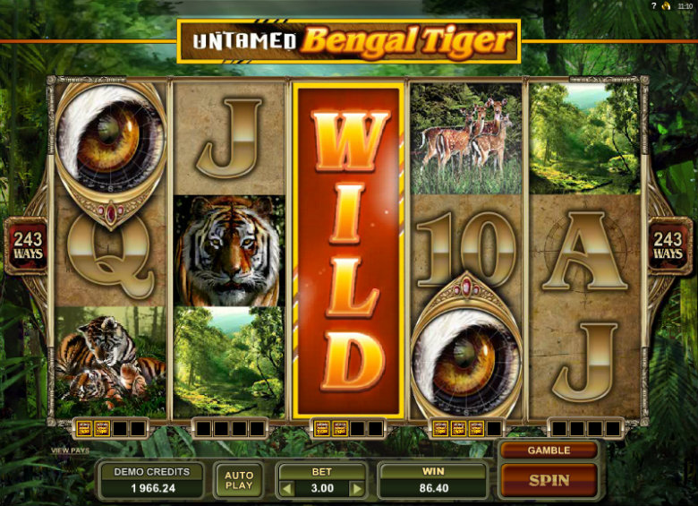 Untamed: Bengal Tiger - Video Slot