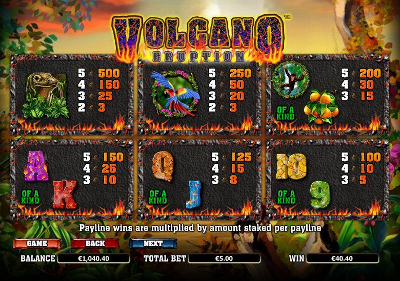 Spiele Volcano - Video Slots Online