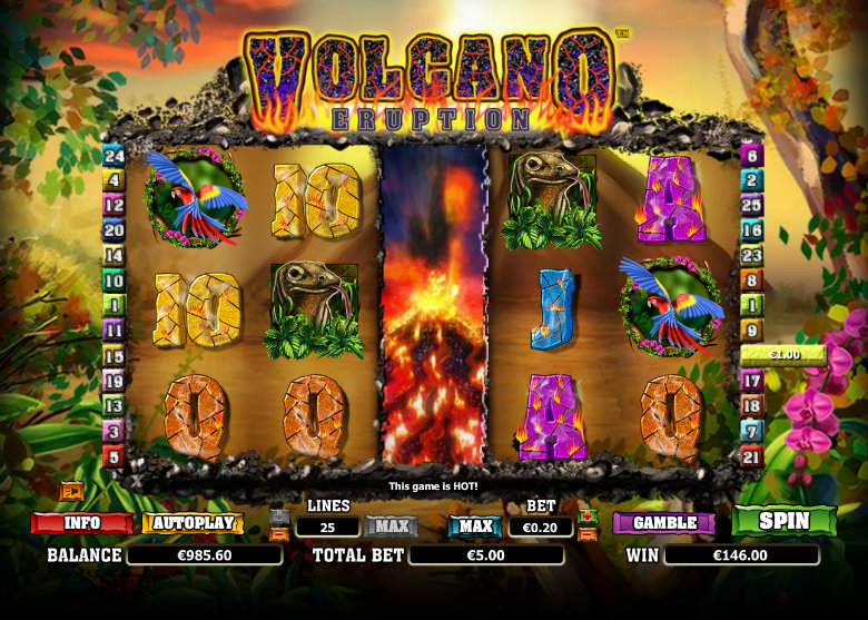 Volcano Eruption - Video Slot