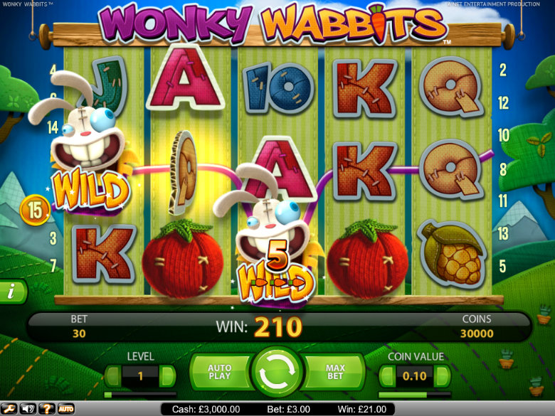 Wonky Wabbits - Video Slot