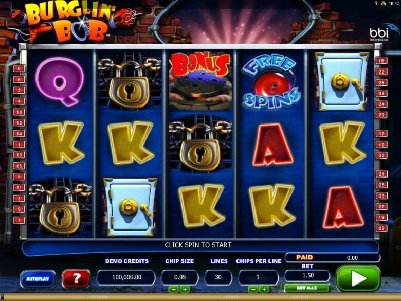Burglin Bob™ Slot Machine Game to Play Free in Microgamings Online Casinos