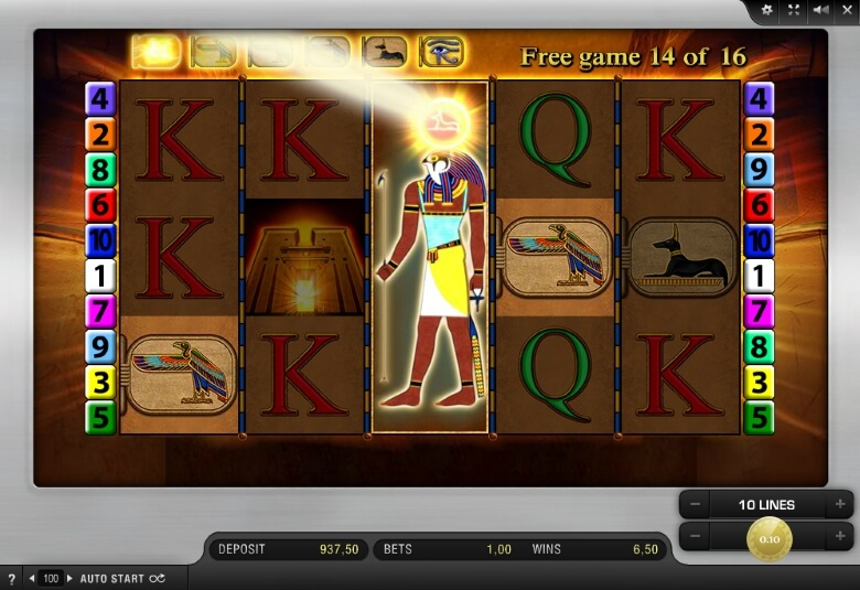eye of horus casino game