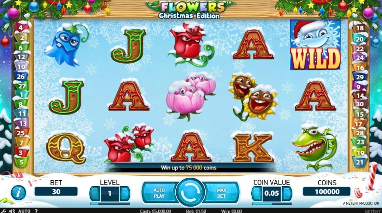 Flower Christmas Edition Video Slot