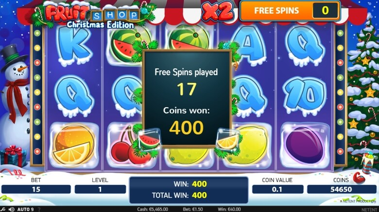 Fruit Shop Christmas Edition Video Slot by NetEnt