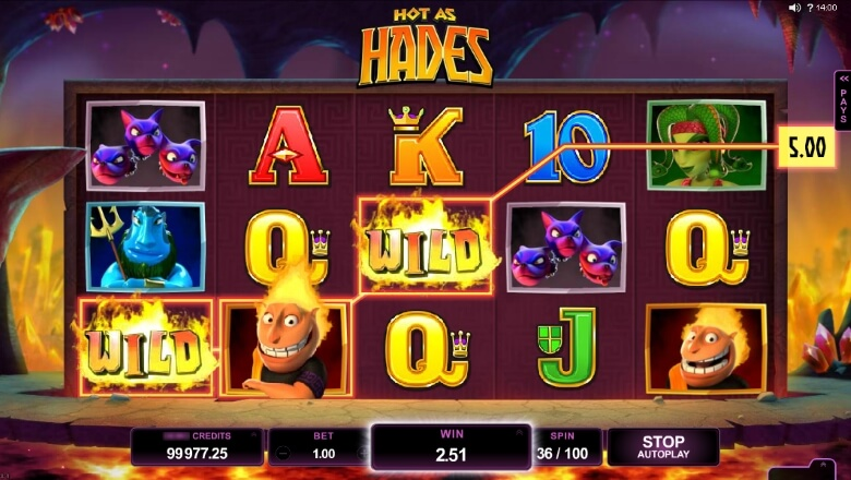 Hot as Hades online slot by Microgaming