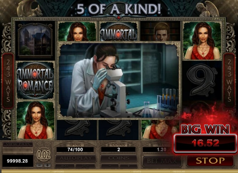 Immortal Romance Online Slot by Microgaming