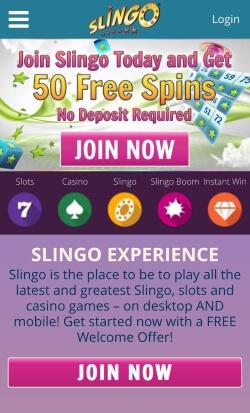 Slingo Mobile | Get 50 free spins on signup