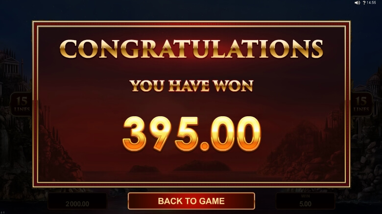 Titans of the Sun Hyperion online slot by Microgaming
