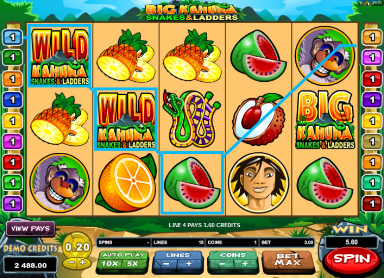 Big Kahuna: Snakes & Ladders - Video Slot