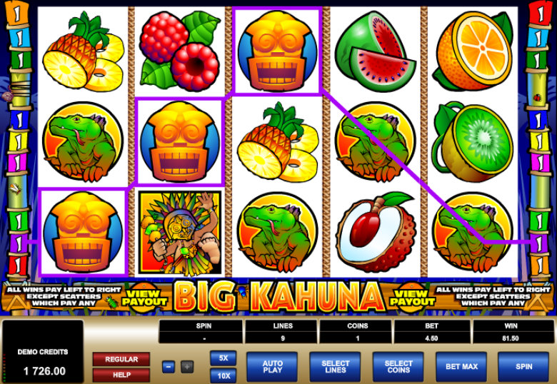 Big Kahuna - Video Slot