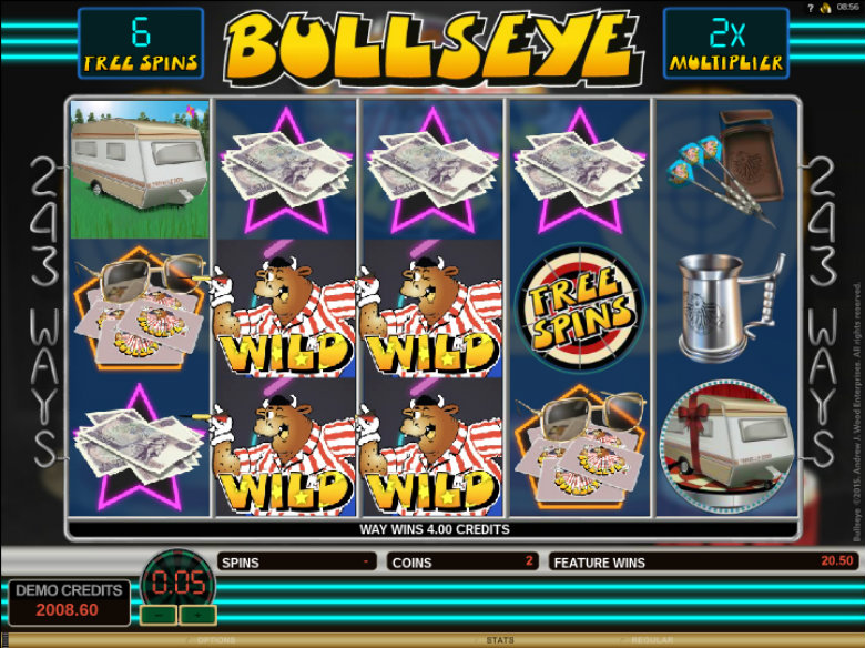 Bullseye - Video Slot