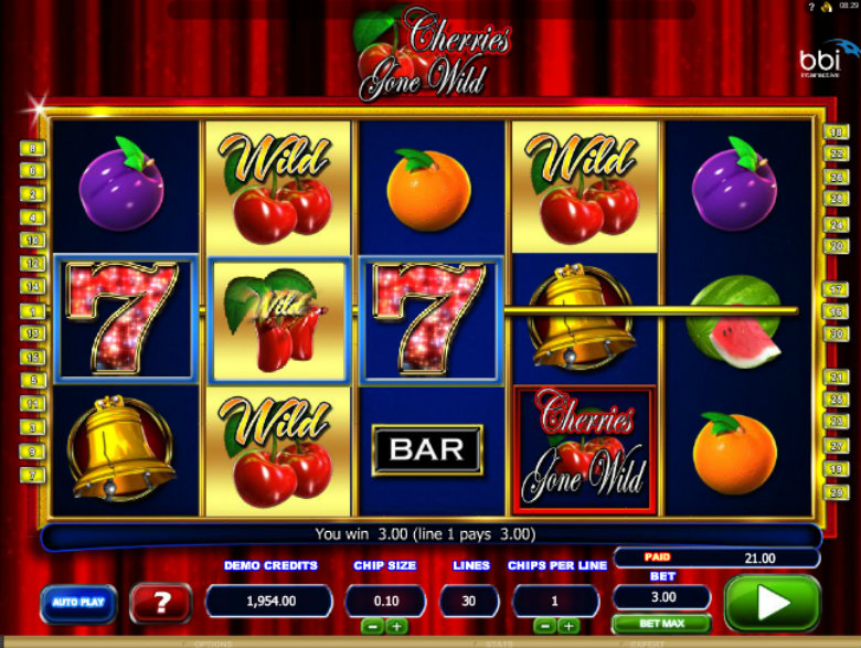 Cherries Gone Wild - Video Slot