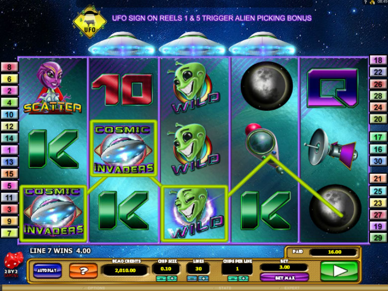 Cosmic Invaders - Video Slot