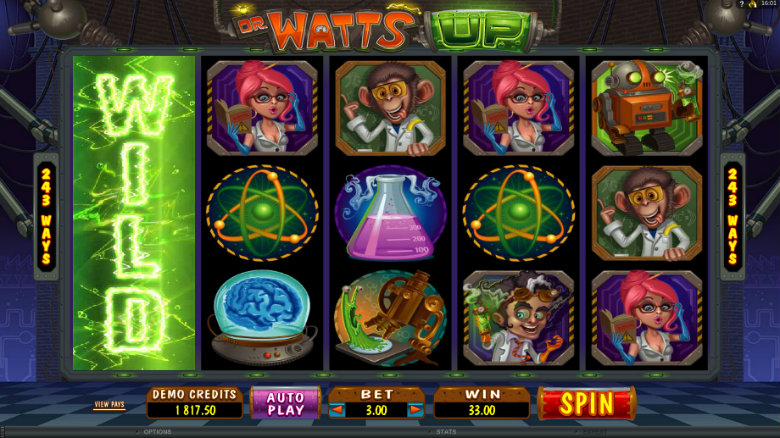Dr Watts Up - Video Slot