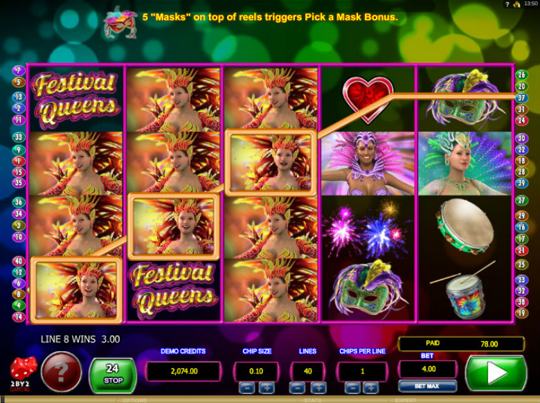 Festival Queens - Video Slot