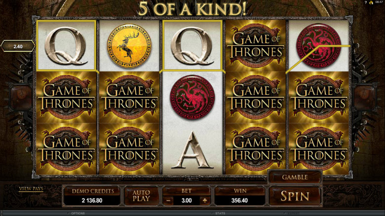 Game of Thrones - Video Slot