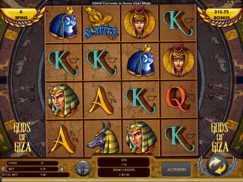 Gods Of Giza - Video Slot