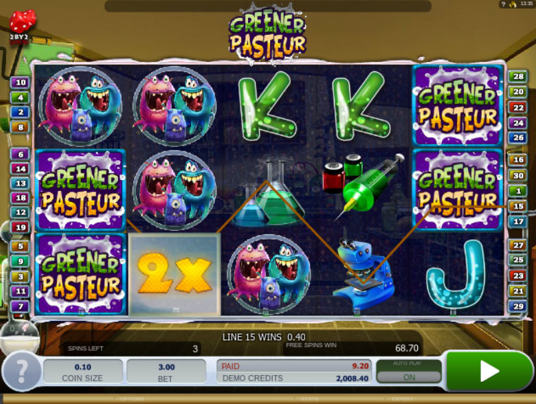 Greener Pasteur - Video Slot