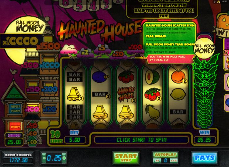 free slots haunted house