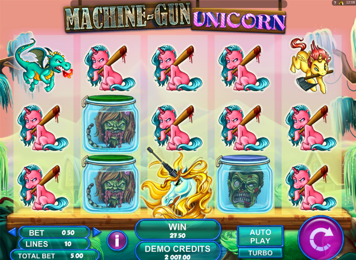 Machine Gun Unicorn - Video Slot