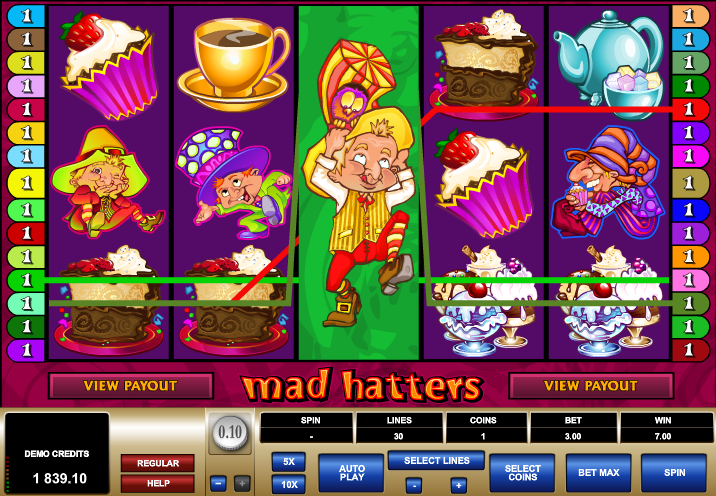 Mad Hatters - Video Slot