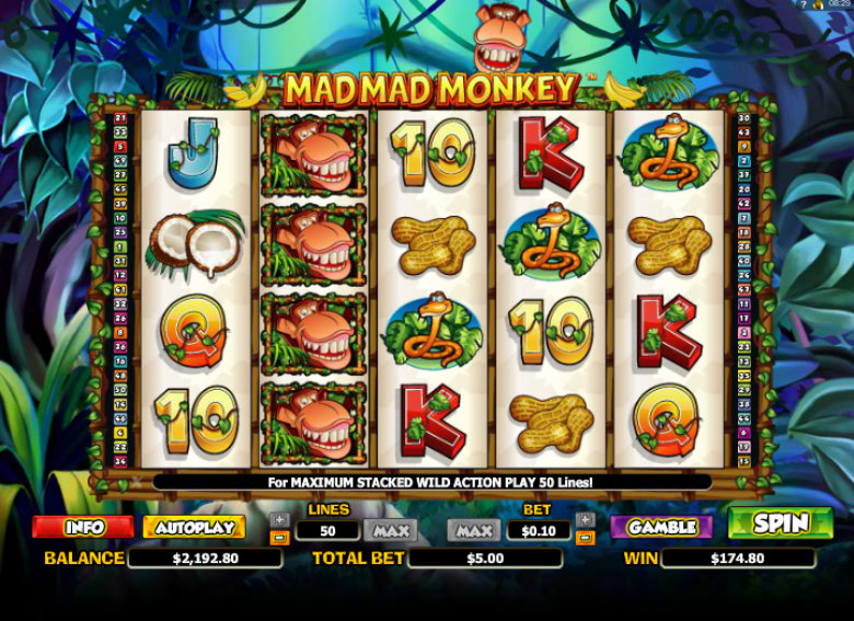 Mad Mad Monkey - Video Slot