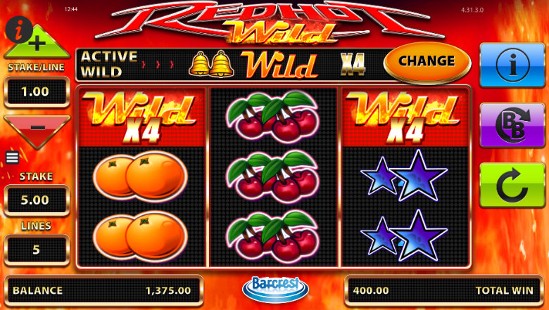 Red Hot Wild - Video Slot