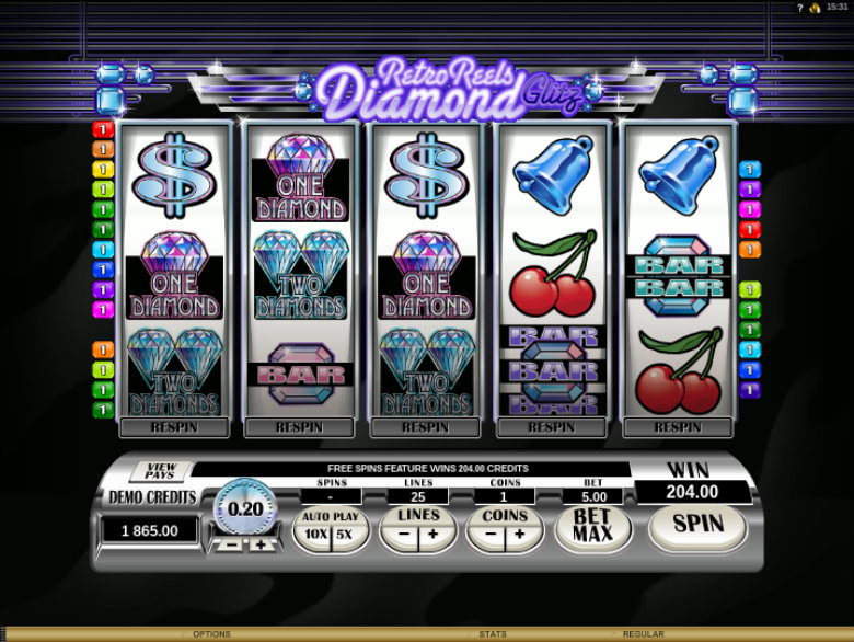 Retro Reels: Diamond Glitz - Video Slot