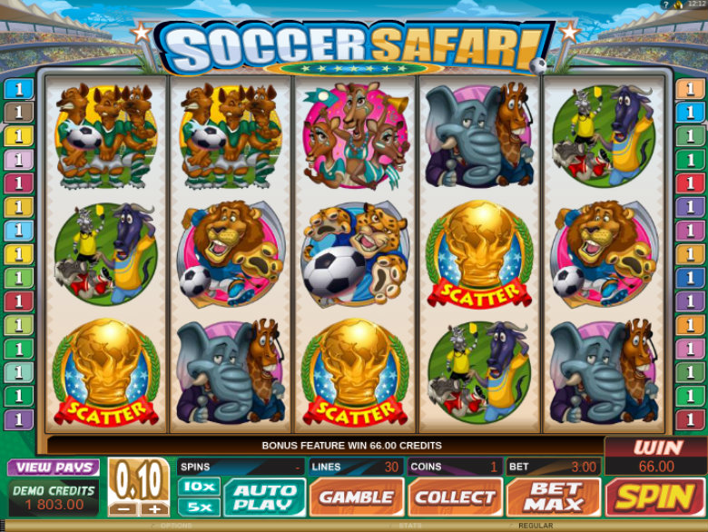Soccer Safari - Video Slot