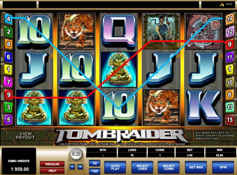 Tomb Raider - Video Slot