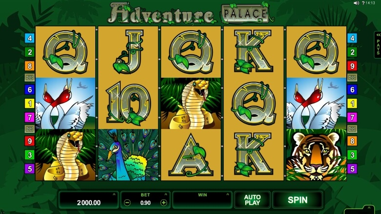 Adventure Palace video slot