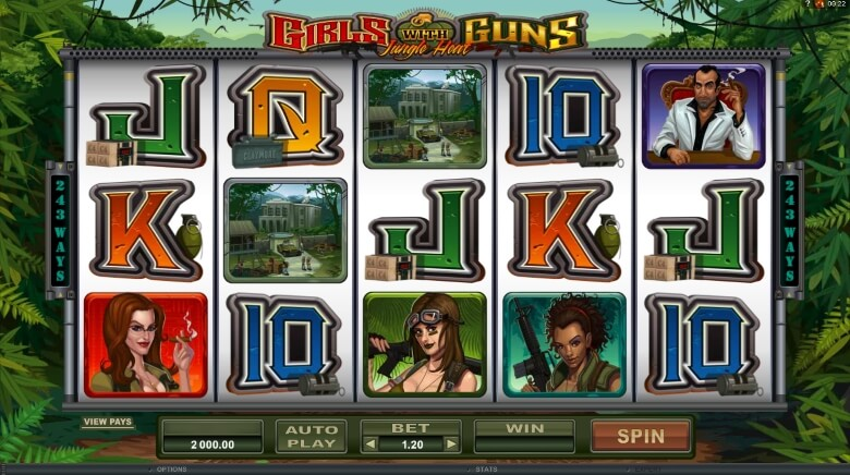 Girls with Guns: Jungle Heat video slot