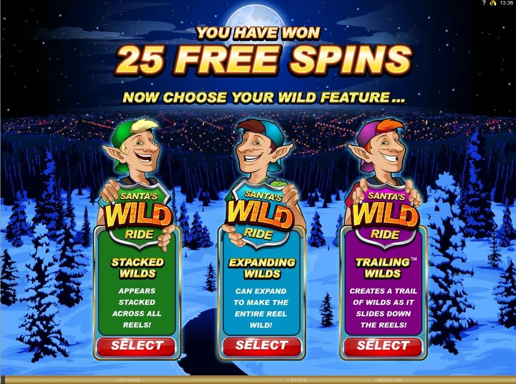 Santa's Wild Ride Online Slot