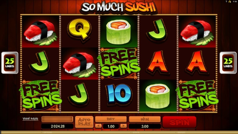 Spiele Sushi - Video Slots Online