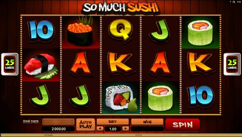 So Much Sushi video slot